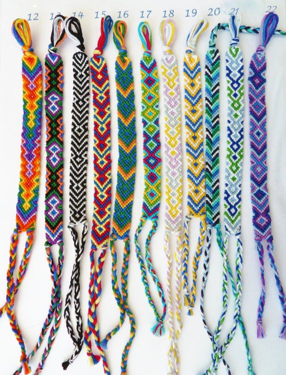 Colorful Friendship Bracelets Hippie bracelets by CraftyMotMot