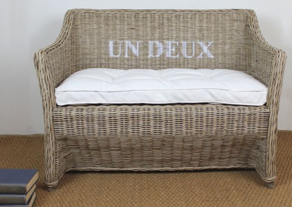 This lovely Kids bench Un/Deux (One / Two) is made from our famous Vintage rattan. #frenchinspired #rattan #kids