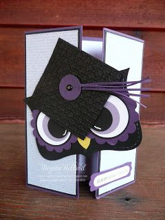 Megumis Stampin Retreat: Mr. Owl Happy Graduation Card