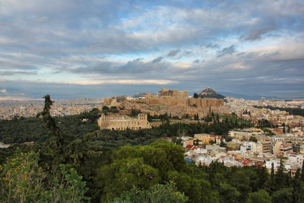 Acropolis from Philopappou hill..