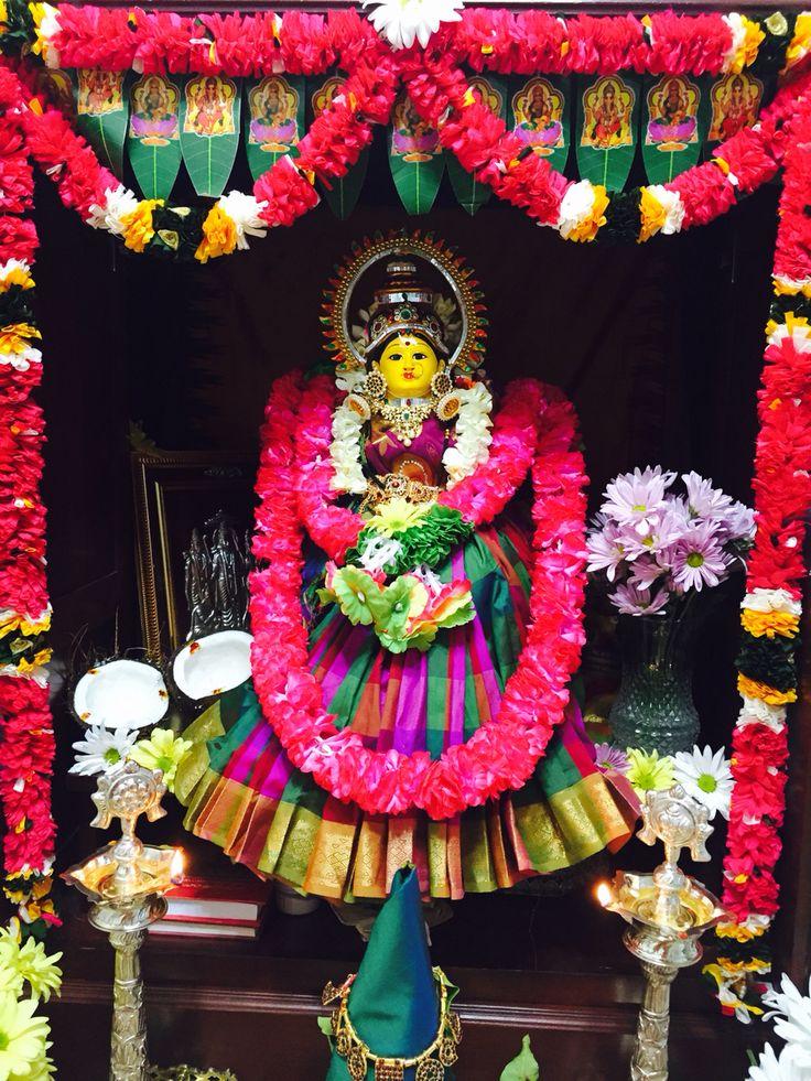 My first varalakshmi vratham after wedding at home!!