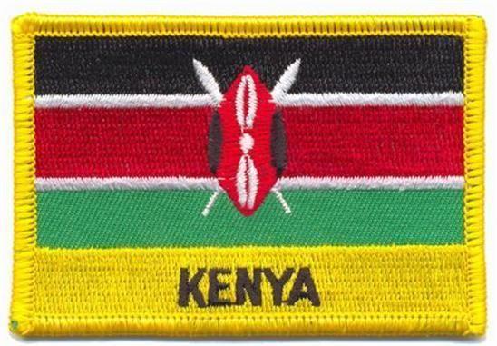 KENYA FLAG PATCH  - STILL FLAG - EMBROIDERED BADGE #Unbranded