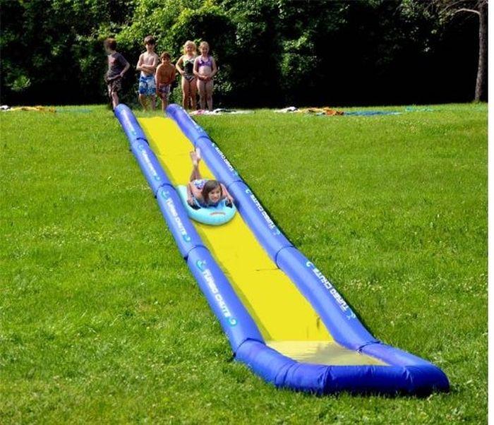 Best Backyard Inflatable Water Slides Part - 43: Inflatable Turbo Chute Water Slide Backyard Package
