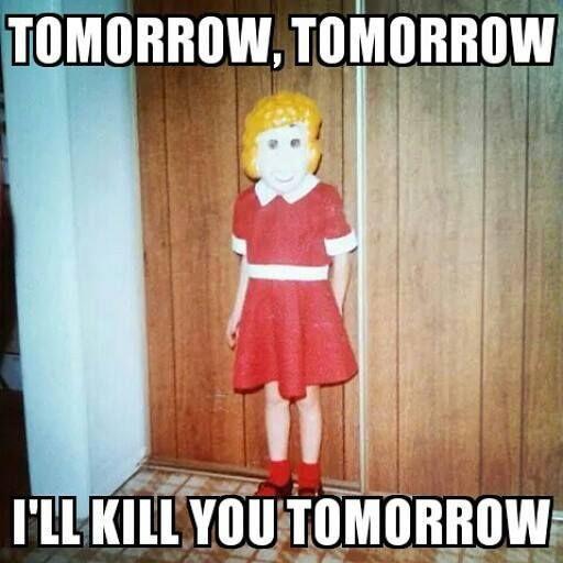 Funny Meme Halloween : Little creepy annie my halloween meme halloweenie
