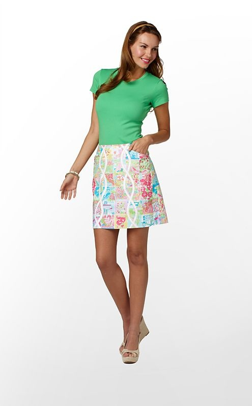 6b60ebf6bdf Lilly State of Mind skirt is quite the conversational print- Everyone will  be looking for their home state!   Lilly Pulitzer   Skirts, Resort wear for  women ...