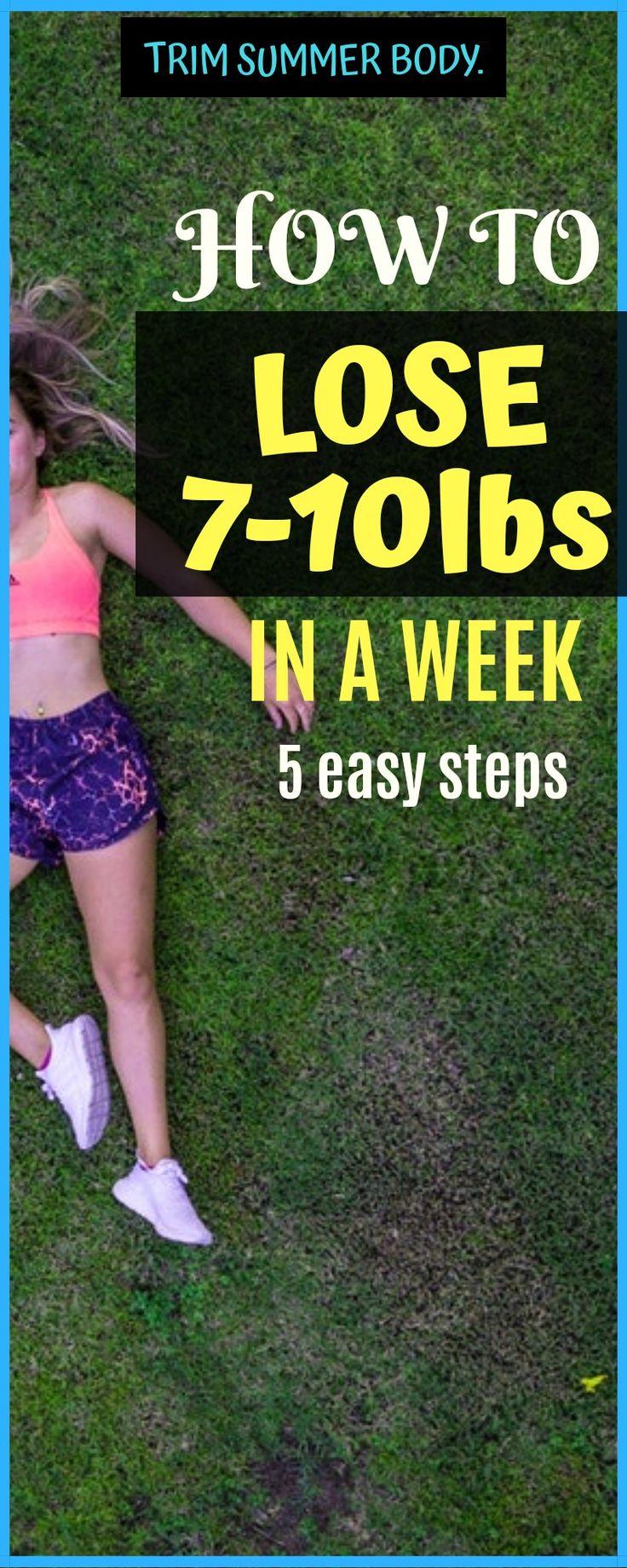 Wie man schnell Gewicht verliert, verlieren Sie 7-10 Pfund in einer Woche