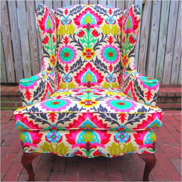 Love I Love Bright Patterned Chairs L I V I N G R O O