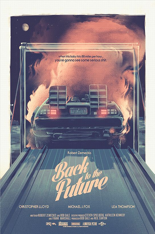 Back to the Future Trilogy posters on Behance