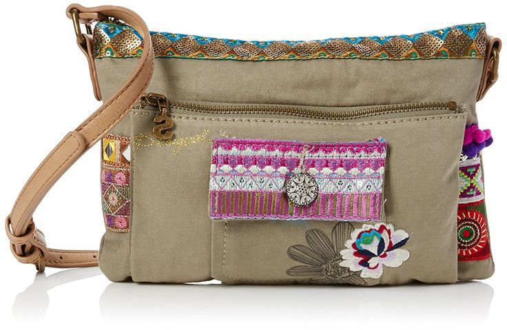 Desigual BOLS_TOULOUSE Military Deluxe, Bolso Bandolera para Mujer, Verde (4027), 1x17x26 cm (B x H x T)
