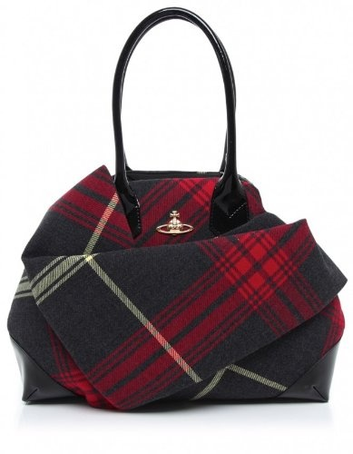 Vivienne Westwood Accessories Womens Bag Multi-Coloured Winter Tartan OS Winter tartan bag Shoulder bag Zip fastening Gold orb logo to the front Wrap fabric design
