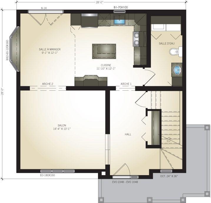 Prix maison modulaire trendy maison de type t avec tage et abri voiture surface de with prix for Maison profab prix
