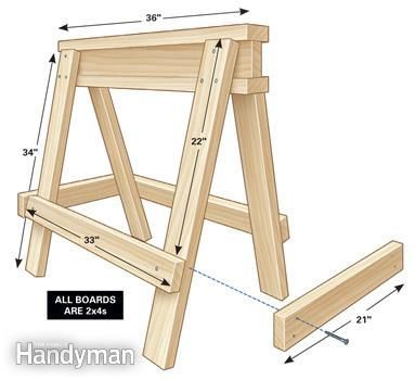 Sawhorse plan -It's a simple design, strong and super easy to build.