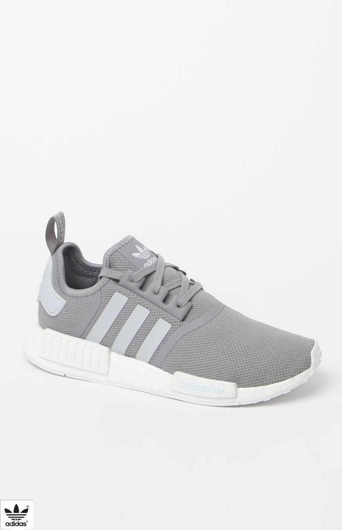 NMD_R1 Grey White Shoes | New york fashion | Adidas shoes