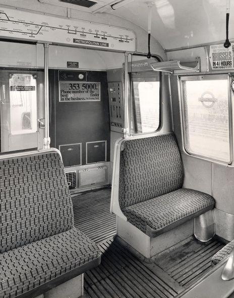 Interior of London's famous tube (subway) car - Metropolitan Line - Google Search