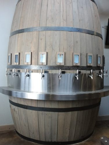 San Diego bar Barrel Republic is a pour-it-yourself concept, with 44 taps that are available to patrons. A tablet above each tap explains what the beer is & suggests the proper glassware; fetch your own glass - they come in taster, tulip and pint sizes - and get to pouring. You put money down on a beer card or wristband; a sensor keeps tabs on how many ounces you take. The servers have all passed the first level of Cicerone certification.