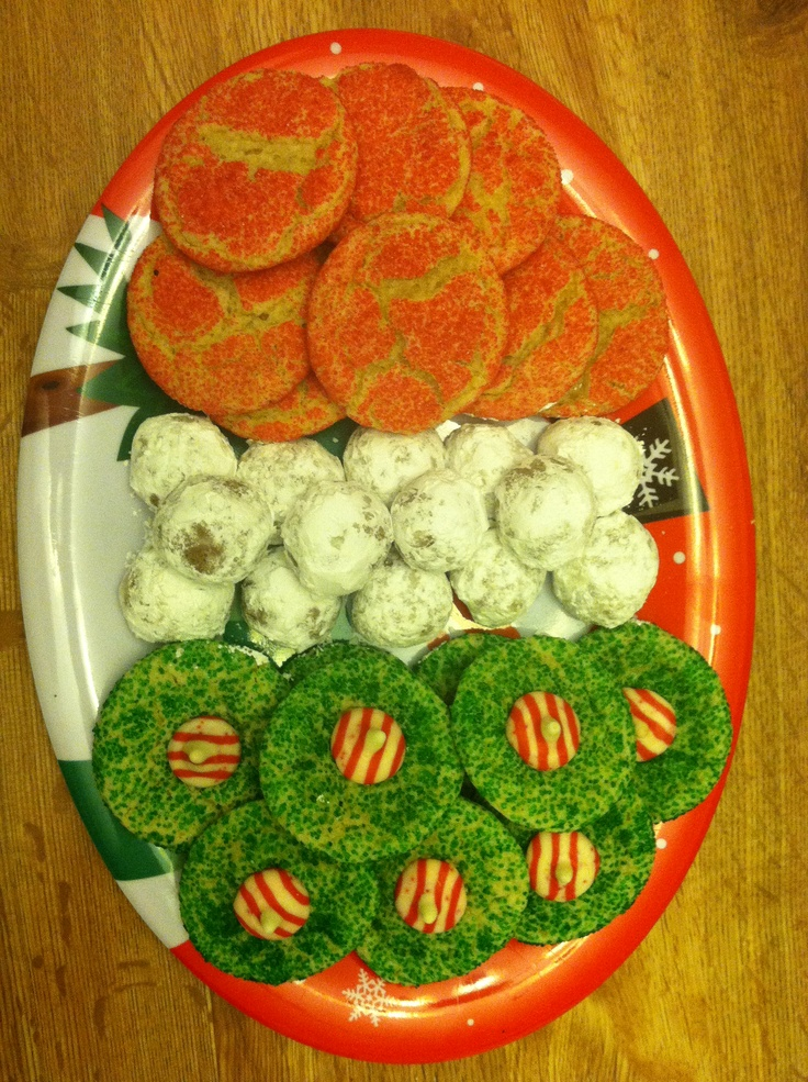 ... , hot chocolate snow balls, and Kisses candy cane blossoms