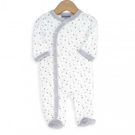 Joli pyjama bébé à motifs étoiles #bébé #pyjama #étoiles #kinousses #naissance