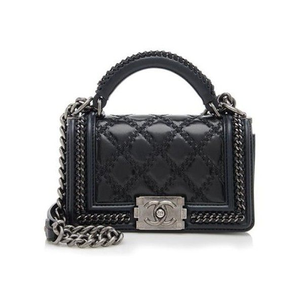 Chanel Rental Chanel Paris-Salzburg Leather Small Top Handle Boy ...