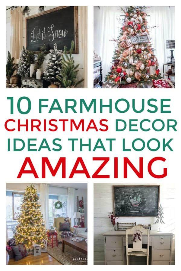 10 Amazing Christmas Farmhouse Decor Ideas You Don T Want To Miss Homebody Budget Holiday Decor Farmhouse Christmas Farmhouse Christmas Decor