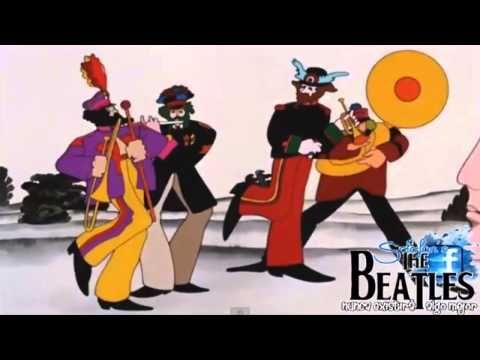 The Beatles - Yellow Submarine Video from 1968 - Movie HD - Lyrics - YouTube