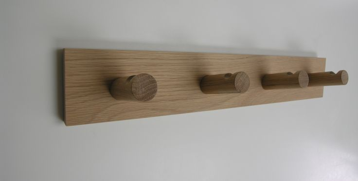 american oak coatrack with notched detail available from chris colwell design