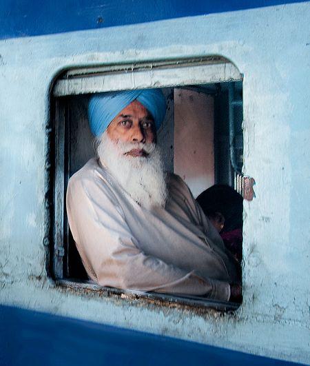 Punjabi Sardar Ji on Train in Punjab