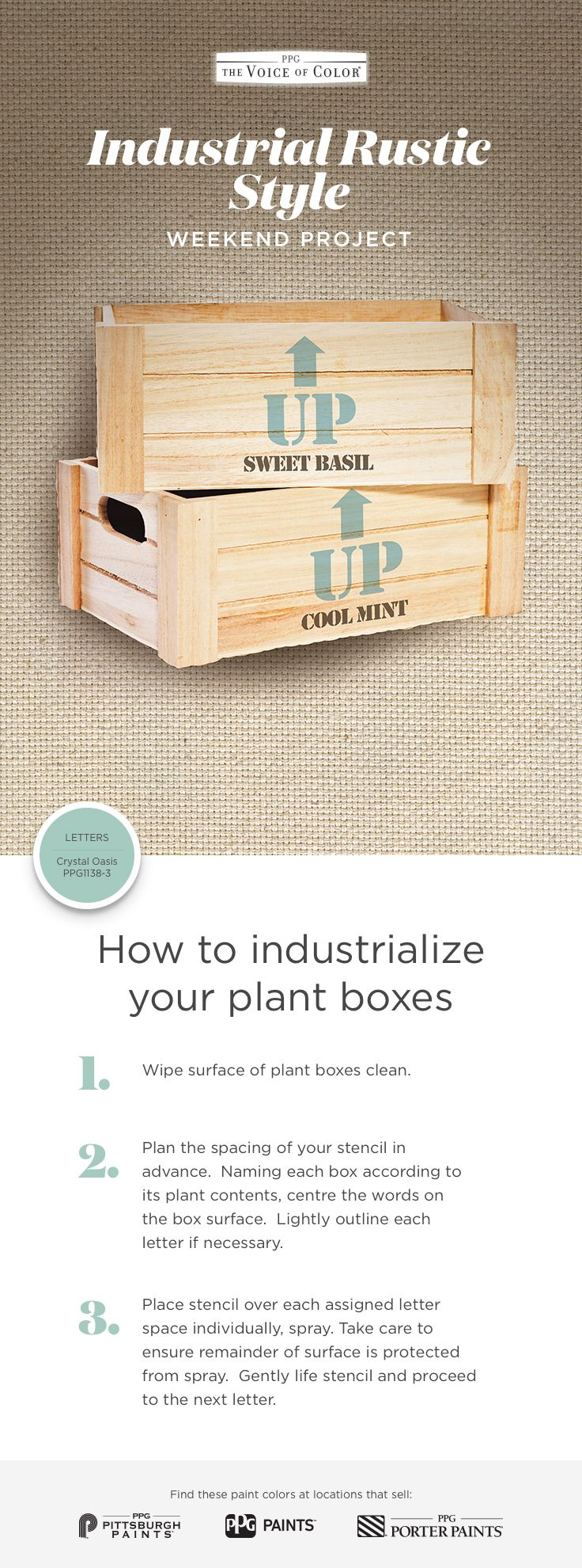 Upcycled Wood Plant Boxes Weekend Project  Industrial Rustic Style   Featured Paint Color Is A