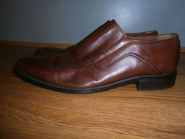 NICO NERINI mens brown leather shoes size 8
