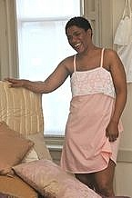Pink Jersey Night Dress - Is made from 100% Jersey Cotton.  The night dress is specially designed so you can step in to the garment instead of raising it over your head as you may have limited arm movement.