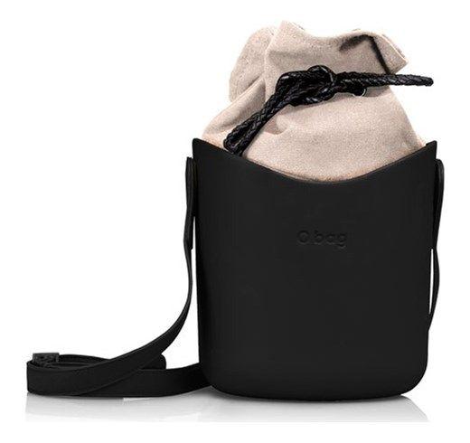 Borsa o Bag Basket  nero con sacca e  tracolla silvanaccessorimoda neri