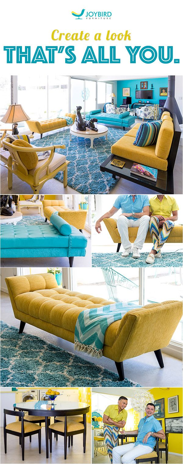 Did you know that almost 50% of Americans haven't updated their home décor in 5 years? If it's time you gave your home some love, then look no further. Joybird allows you to choose from whole collections of iconic mid-century modern designs and make them your own by customizing the fabrics, leather, wood and color. The result? You'll get a premium piece of furniture that's truly yours. Rediscover the art of furniture made the old fashioned way over at Joybird.com.