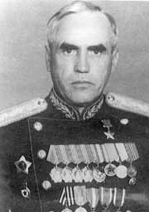 Guard Lieutenant-General Ryzhov Alexander Ivanovich (23 Nov 1895 - 16 Dec 1950), Soviet military commander, a participant of the Great Patriotic war (WWII in Russia). The commander of the 296th Rifle Division, the 3rd Guards Rifle Corps, 56th, 18th, 46th, 47th and 70th Soviet Armies, the 28th Guards Rifle Corps (1944-1945 - the Storming of Berlin). Hero Of The Soviet Union (1945).