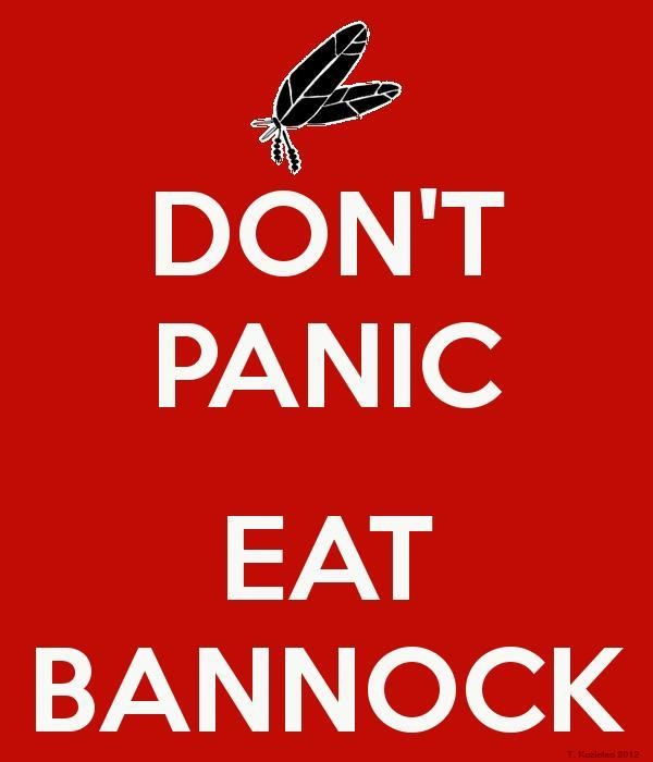 Keep calm poster: Bannock - one of my favourite things about Festival du Voyageur and teaching French!