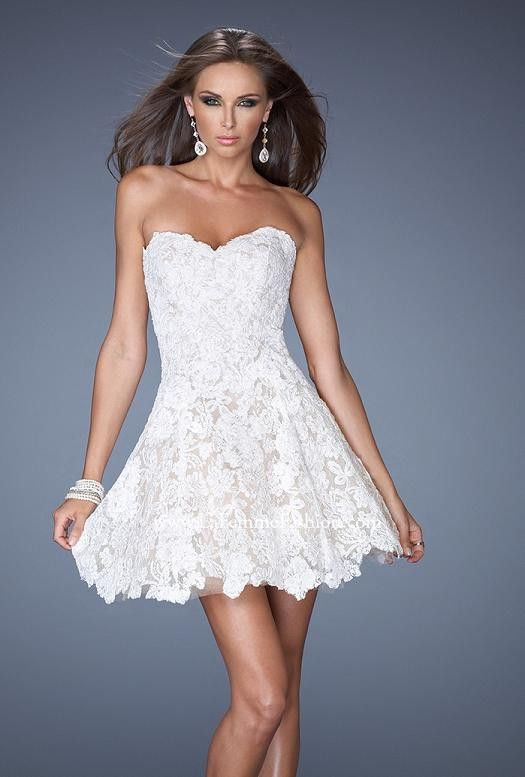 Get This Beauty For Your Wedding Reception Or Going Away Dress Beautiful Short White Lace