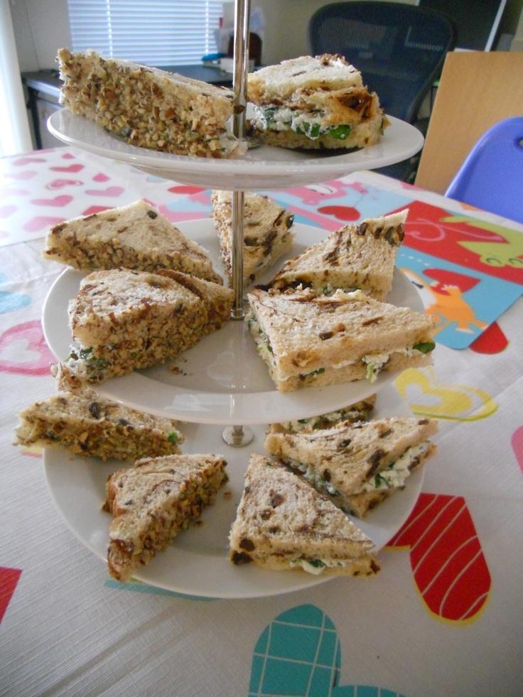 Goat Cheese & Watercress Tea Sandwiches