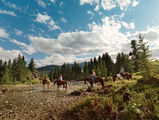 Horseback-riding in Calgary. #GILOVEALBERTA