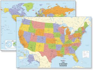 Best US STATE MAPS Images On Pinterest Wall Maps - Best us wall map