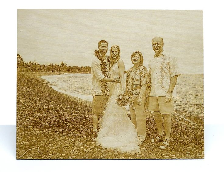 8 in. x 10 in. wood photo engraving