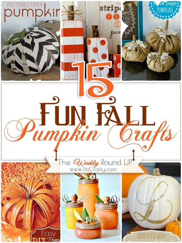 I love pumpkin crafts, don't you???. They are fun, colorful and so seasonal! No greater symbol of fall than a pumpkin right?. I love all…