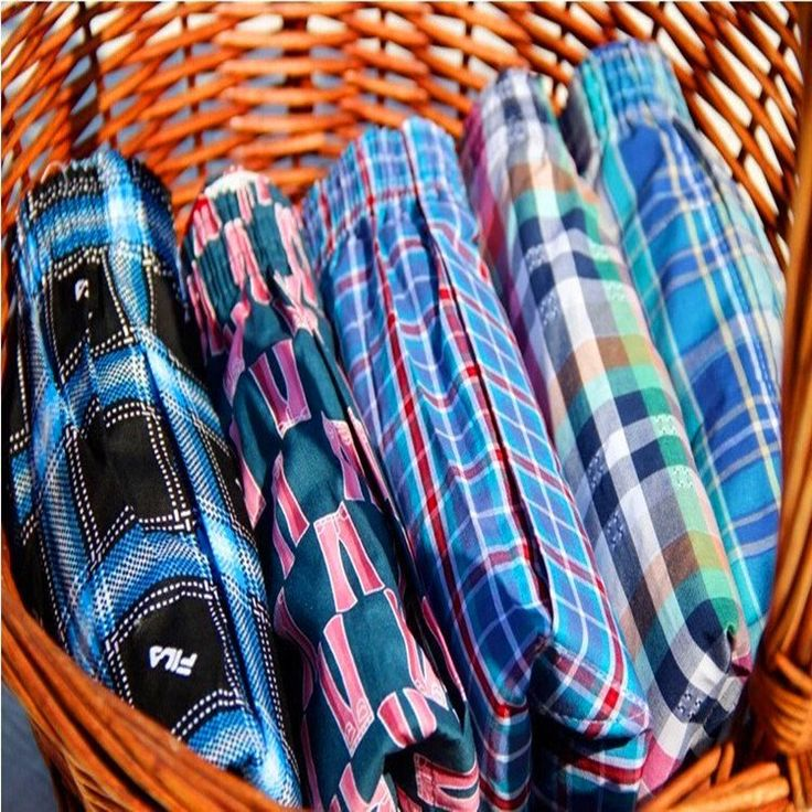1 Pcs/Lot Sexy Mens Shorts Boxers Male 100% Cotton Loose cuecas masculinas boxer shorts Men's Home Plaid breeches Tunks Free