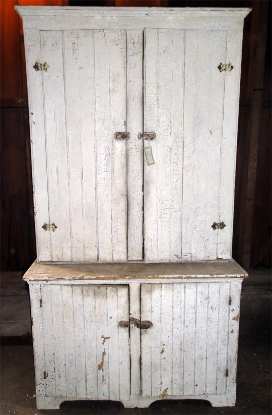 Wainscott Stepback Country Cupboard. Great Size.