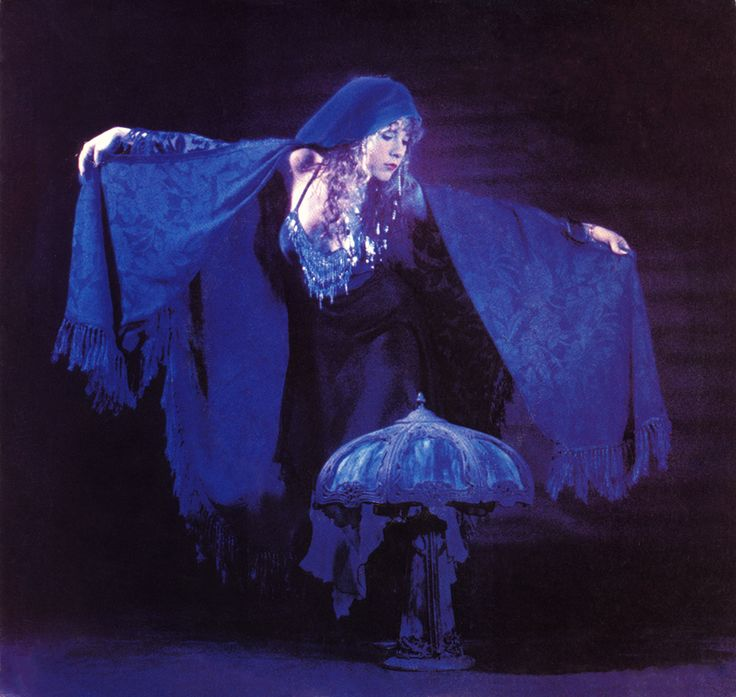 """Stevie Nicks and THE """"Blue Light"""" that inspired the song of the same name. This lamp was a gift to Stevie by her mother."""