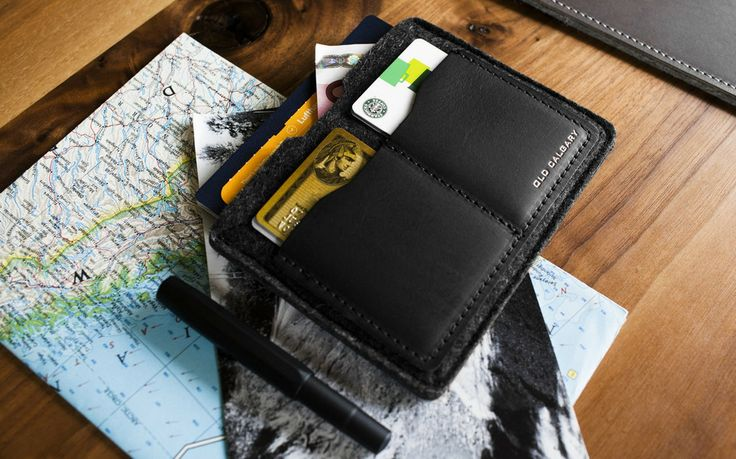 Old Calgary Passport Wallet - Carbon :: Maxton Men
