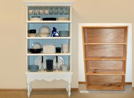 China cabinet from pine bookcase