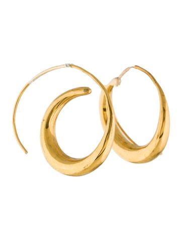 Tom Binns Swirl Hoop Earrings