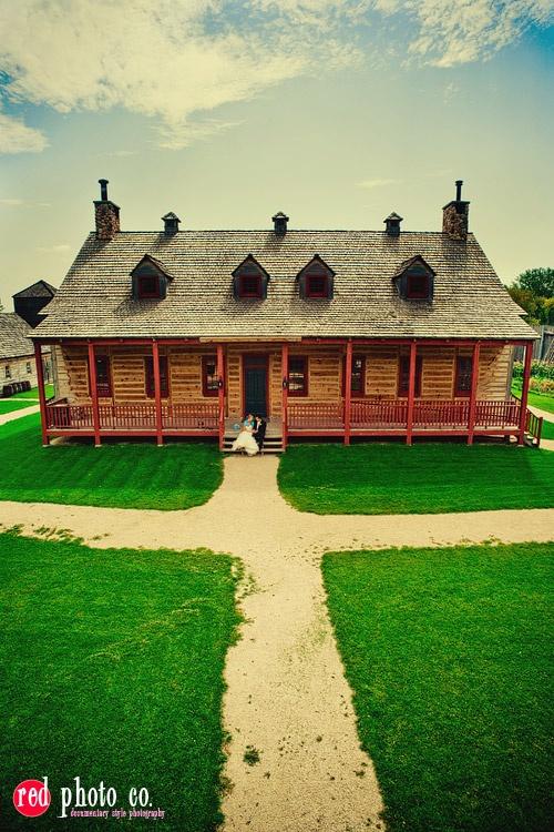 The Maison du Bourgeois at Fort Gibraltar Winnipeg