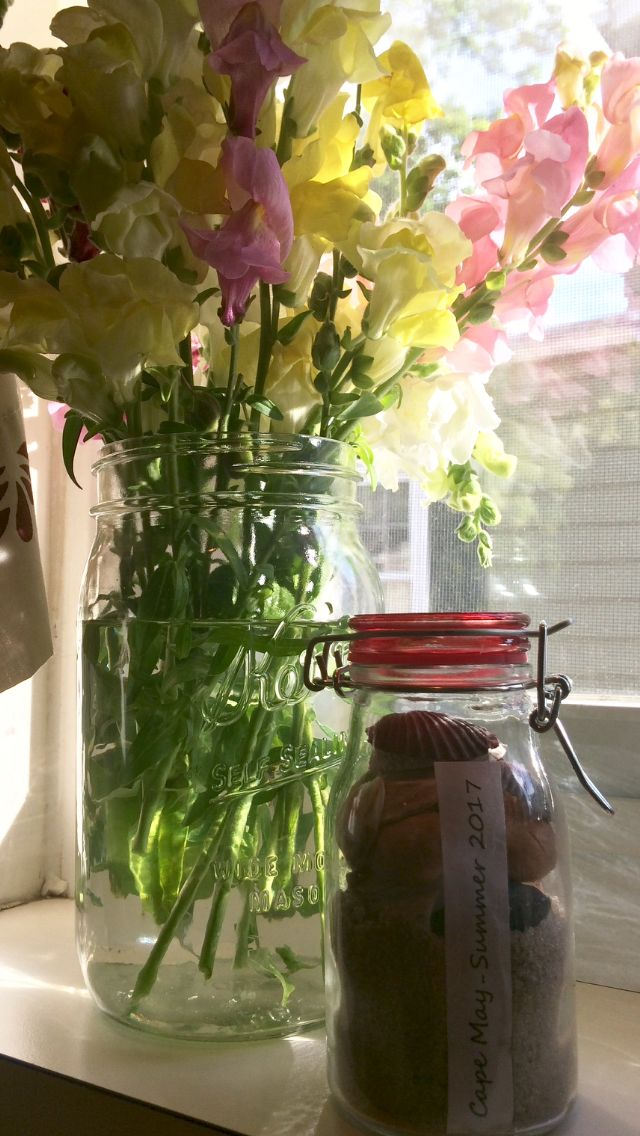 Cape May Memory Jar & Flowers from Beach Plum Farm