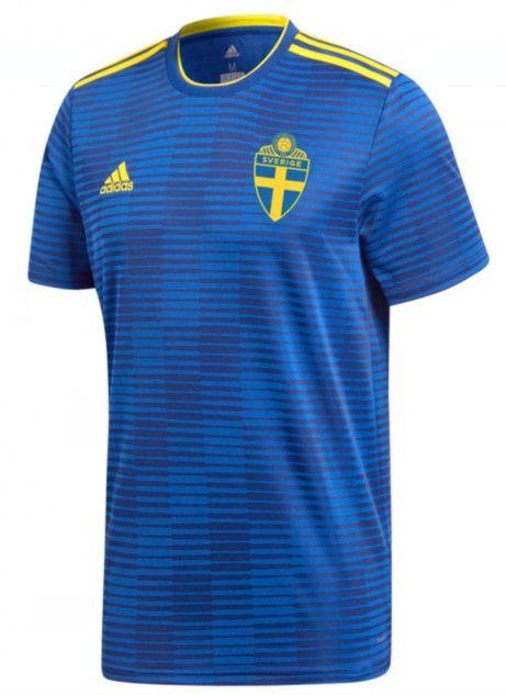Suecia 2018 Segunda equipacion thai camiseta gratis dhl envio b786f5fedf2eb