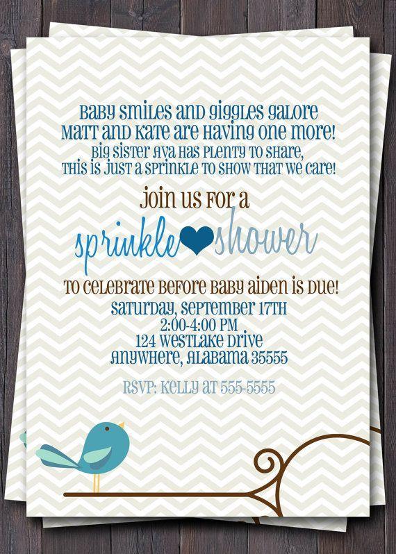 55 best A Baby Sprinkle~2ND or 3RD  - fresh birthday invitation baby girl