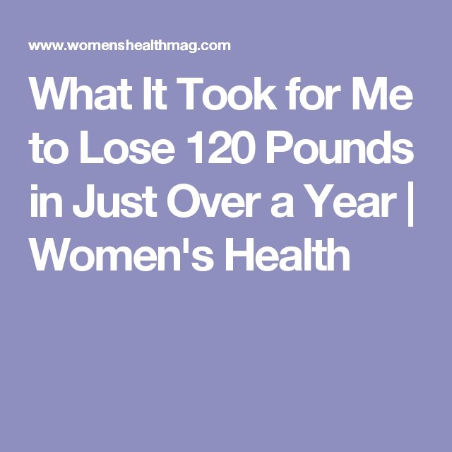 What It Took for Me to Lose 120 Pounds in Just Over a Year | Women's Health